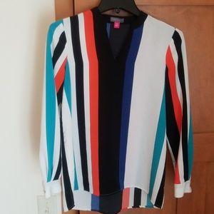 Vince Camuto color block stripe blouse XSP